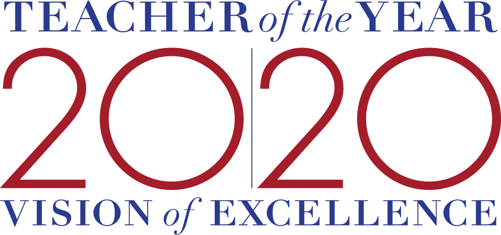 Teacher of the Year 2020 Vision of Excellence logo