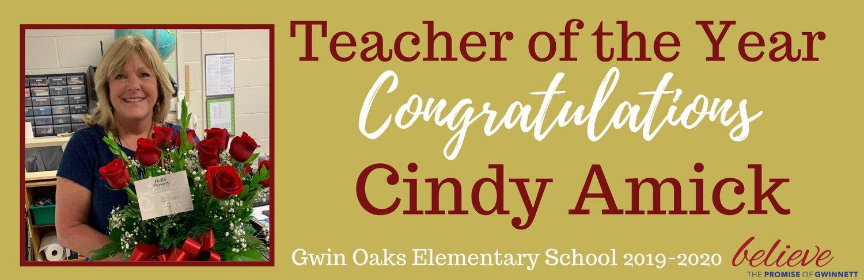 Gwin Oaks ES, Cindy Amick