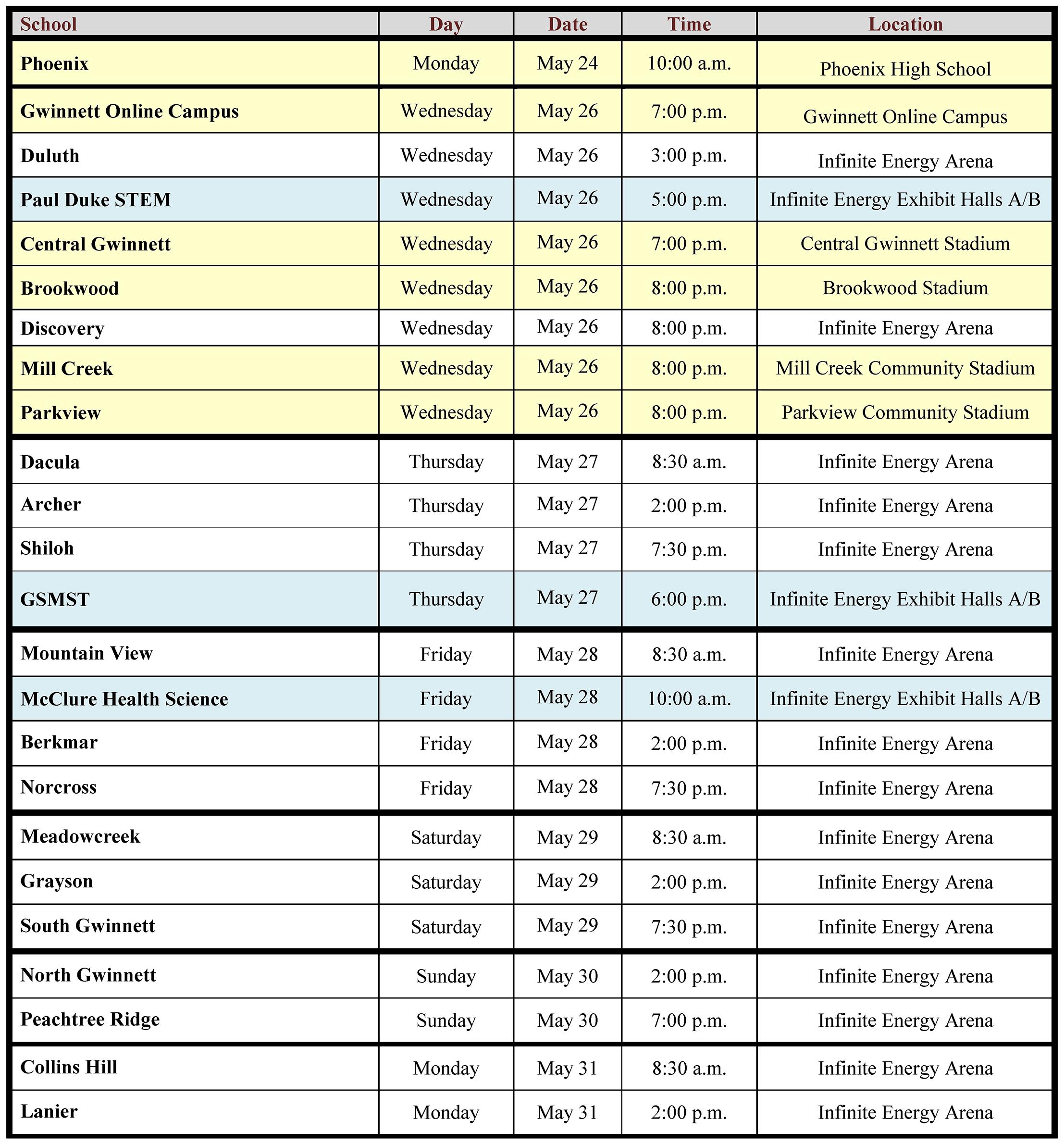 Gcps Calendar 2022.Features Communique