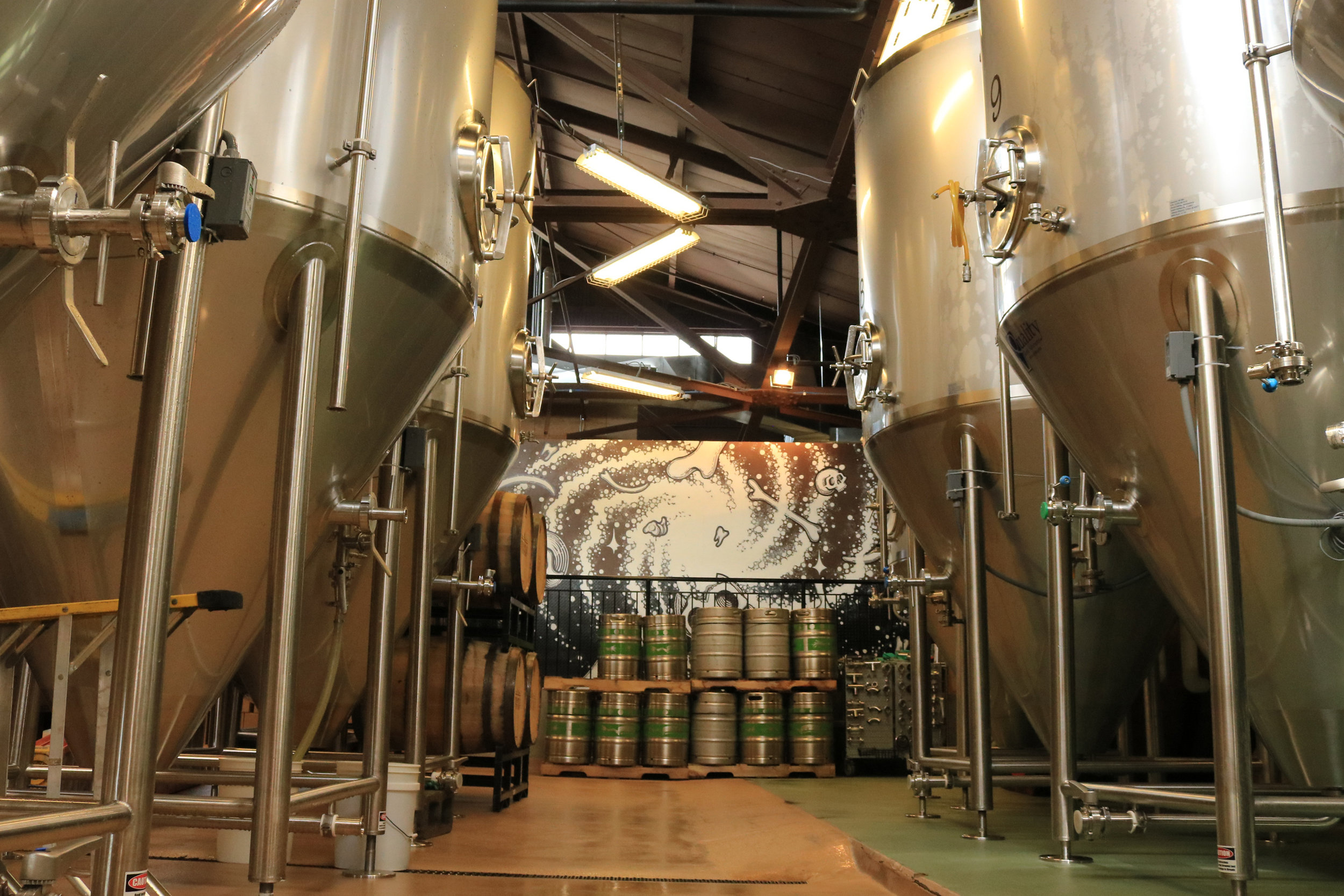 brewery with fermenters