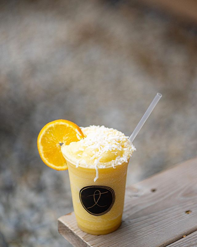 The weather is amazing and so is this slushee. Dudley's Fuzzy Navel - Peach Coconut Milkstave IPA with orange juice and coconut flakes!  See you soon.