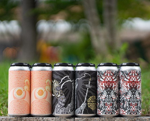 When doors open at 5:00pm today, we will cans of Peach Milkshake IPA, Drippy Church, and Extra Extra Knuckle! . Peach Milkshake IPA is our Milkshake IPA.Brewed with pillowy oats, malted wheat, and lactose sugar. Conditioned on bright, double the amount of peach purée than we normally use, as well as whole Madagascar vanilla beans. Dry hopped intensely with Citra & Mosaic from our 2018 selections. Conceived in eternal return with our comrades from @Omnipollo. Notes of honeysuckle, clementine zest, juicy white peach, and summer orchard. 7.2% abv. $22 per four pack. 1 case/pp. . Drippy Church is our Reptoid Citrus IPA. Brewed with the same familiar oat-based grist used in our Alien Church, and dosed with an abundance of drippy whole oranges in the whirlpool. Dry hopped intensely with Galaxy, Citra, and Amarillo. Sacrilegiously pungent and tropical. Notes of unripe peach, grapefruit marmalade, fresh squeezed OJ, and lime candies. 7.0% abv. $20 per four pack. 1 case/pp. . Extra Extra Knuckle is our Mosaic Double IPA. Brewed with a bit of fluffy malted wheat and hopped exclusively with beautiful and vibrant 2018 Mosaic that we hand selected in Yakima, Washington this past harvest. Extra EXTRA excellent and drippy! Notes of passionfruit, mango nectar, jellied strawberry, ripe honeydew, and mandarin orange. 8.6% abv. $20 per four pack. 1 case/pp. . See you soon.