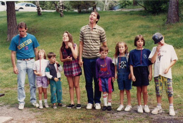 McCue reunion 1993 (I've always loved overalls)