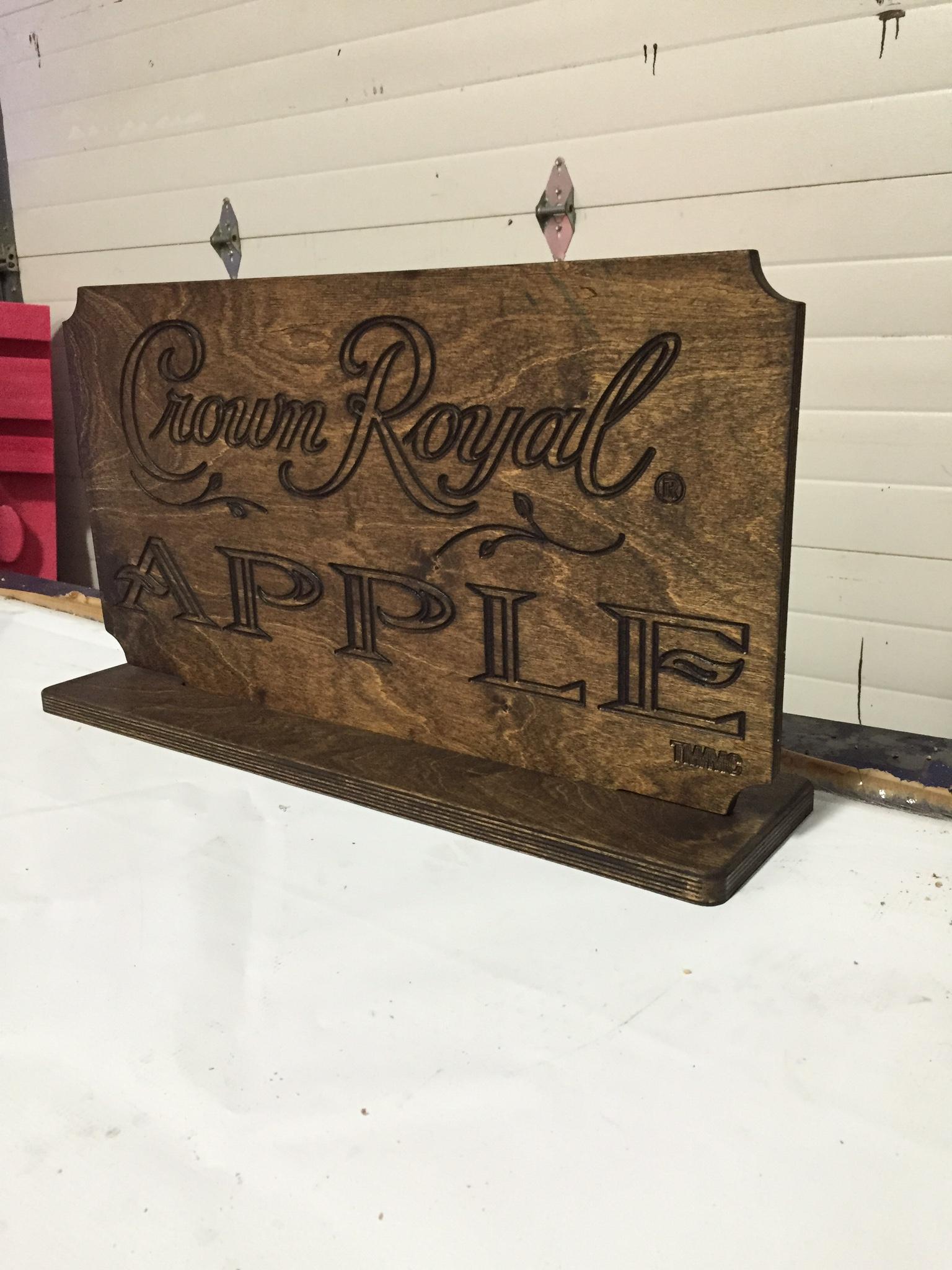 Crown Royal Apple sign