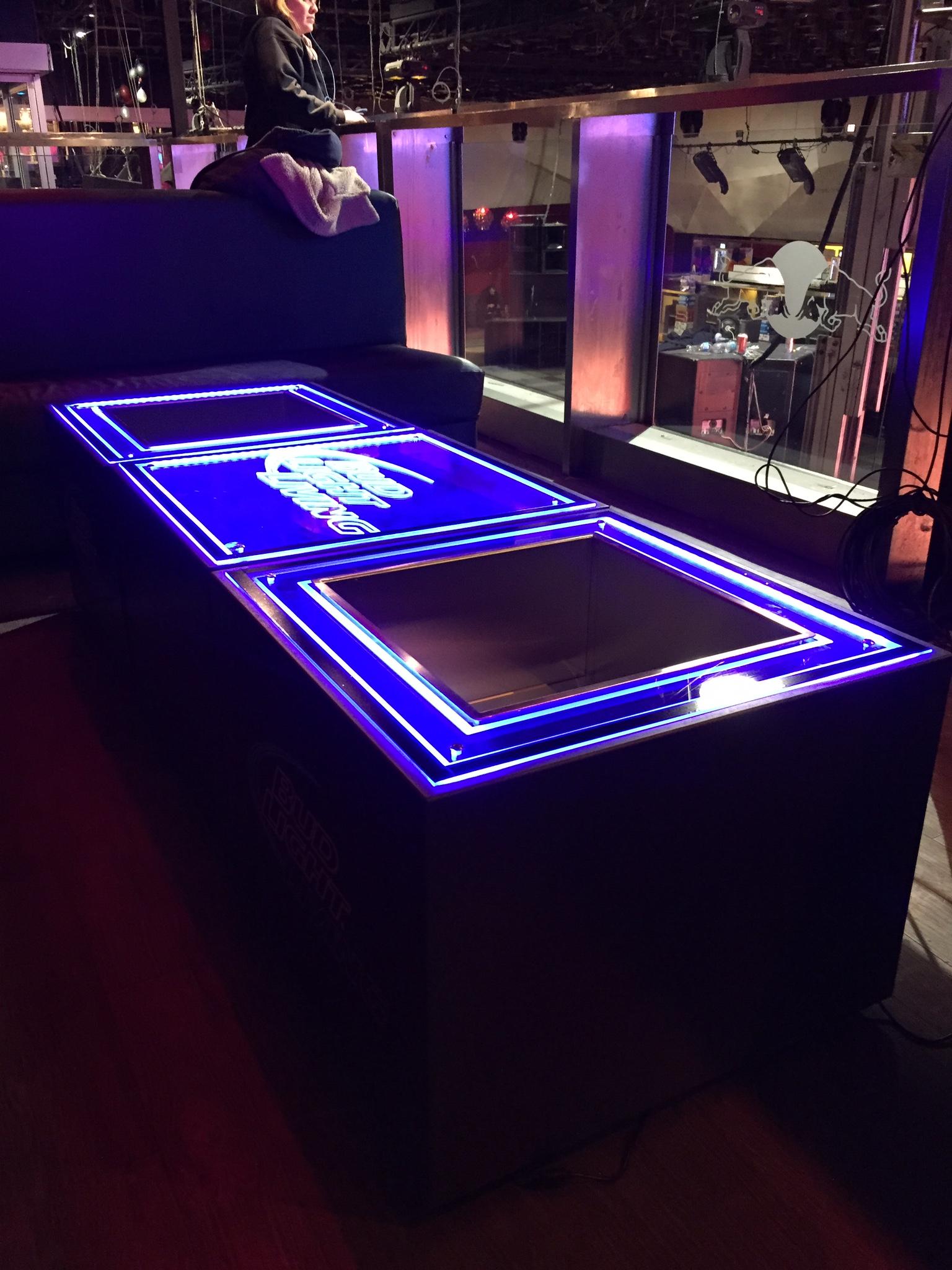 Custom tables - Bud Light Living