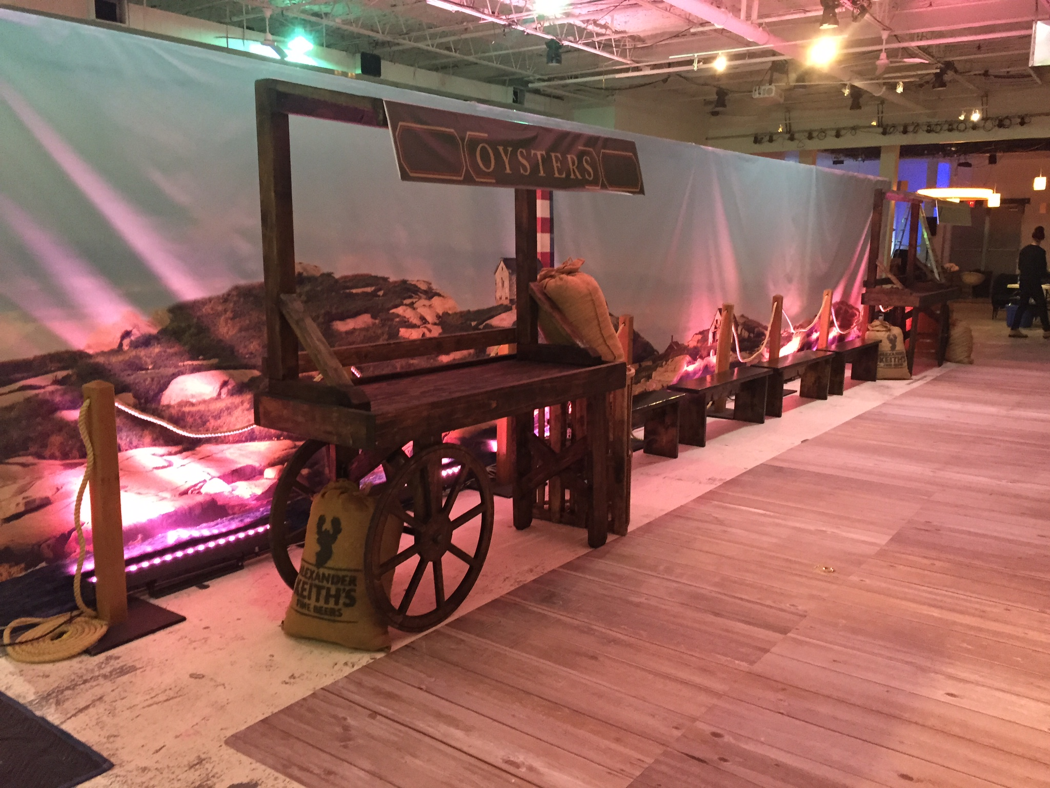Custom wooden market carts