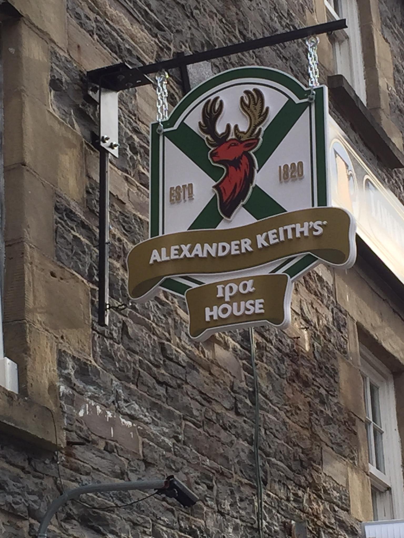 Alexander Keith's IPA House signage