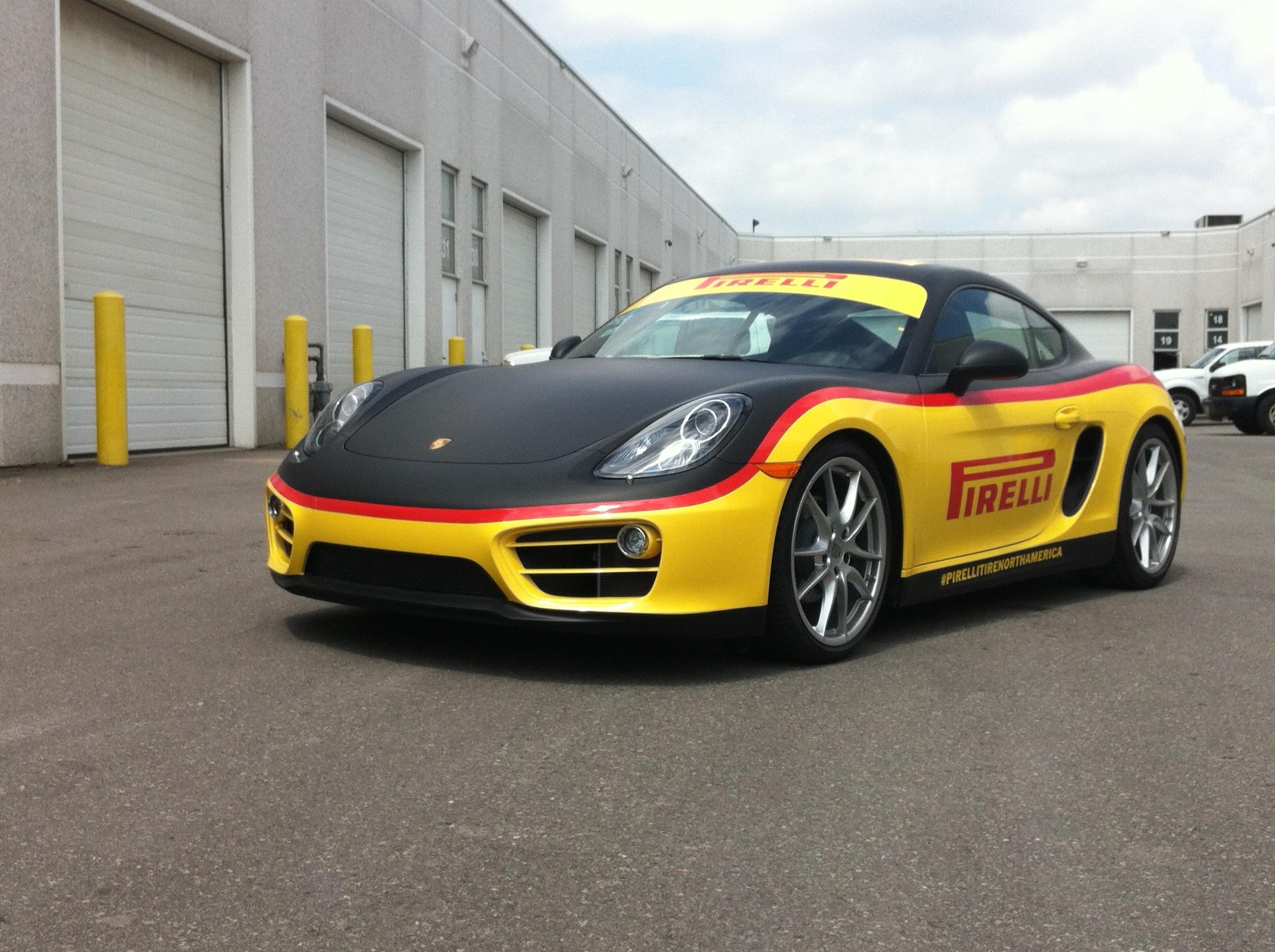 Porsche Cayman vinyl wrap