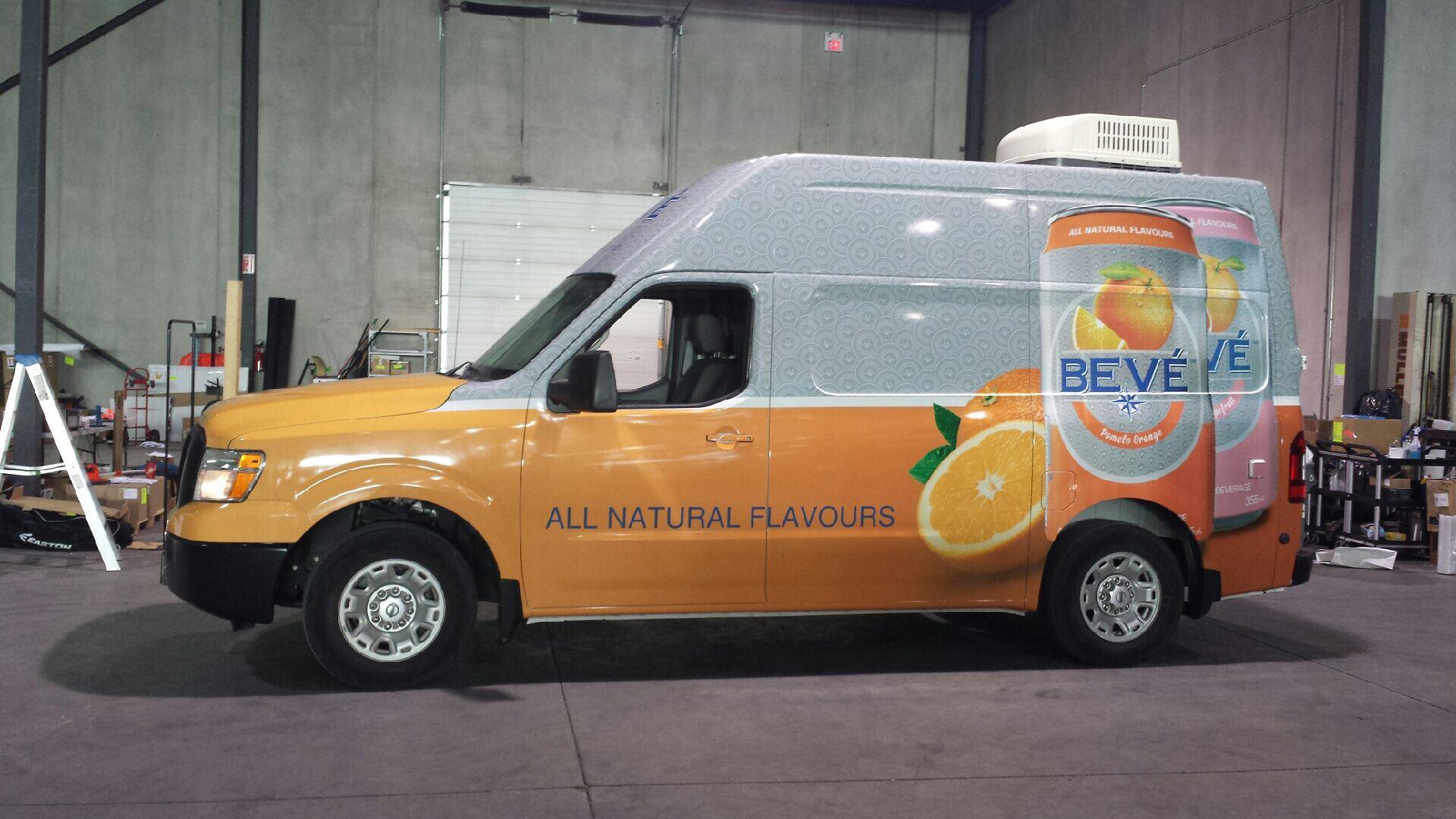 Vehicle wrap - Bevé Mobile Mixer