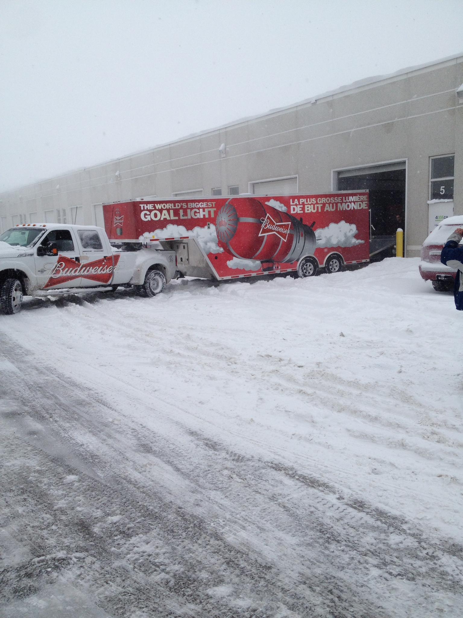 Bud Red Lights truck trailer wrap