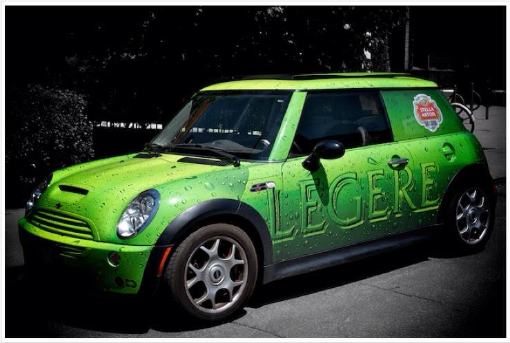 Vehicle wrap - Stella Artois Legere