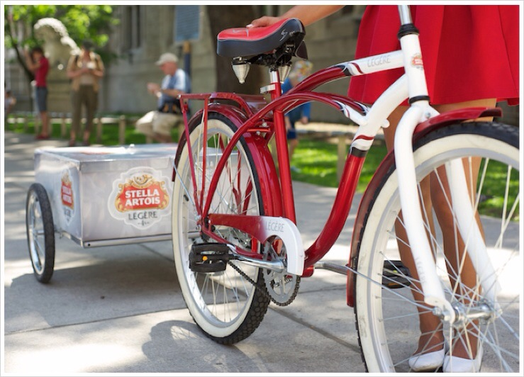 Bike trailer wrap - Stella Artois