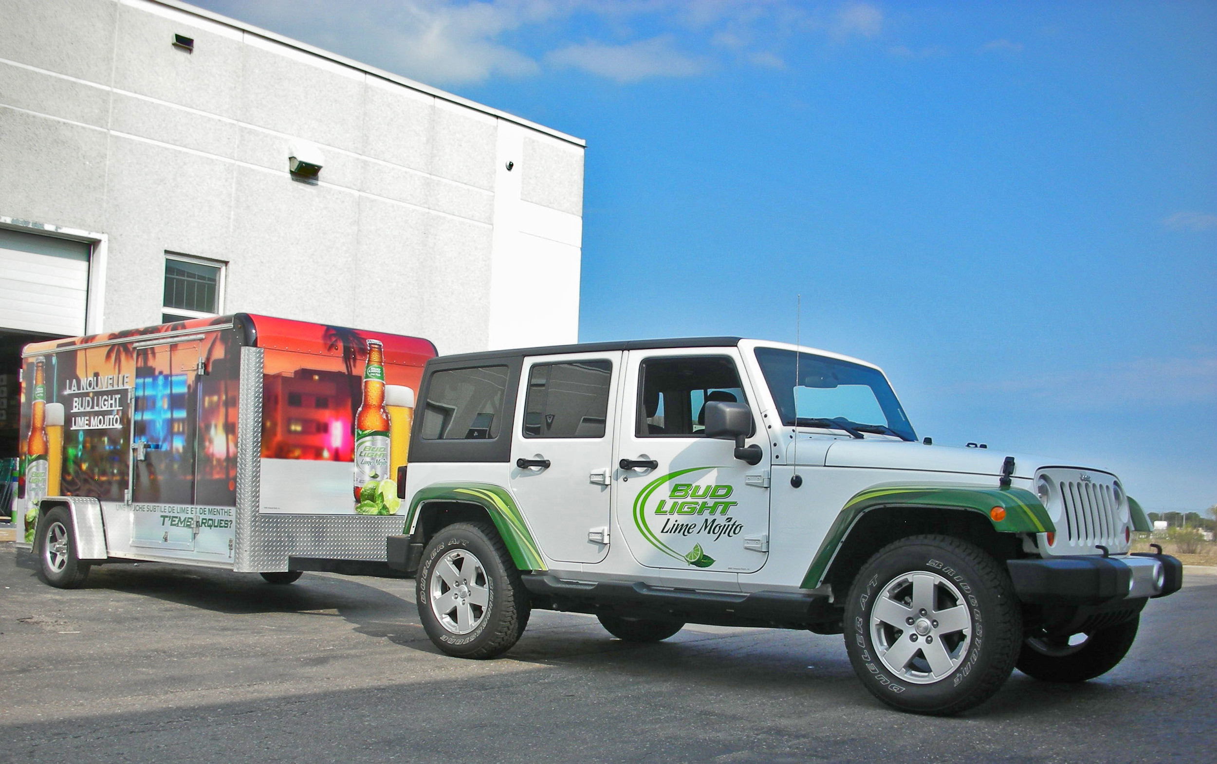 Vehicle and trailer wrap - Bud Lime