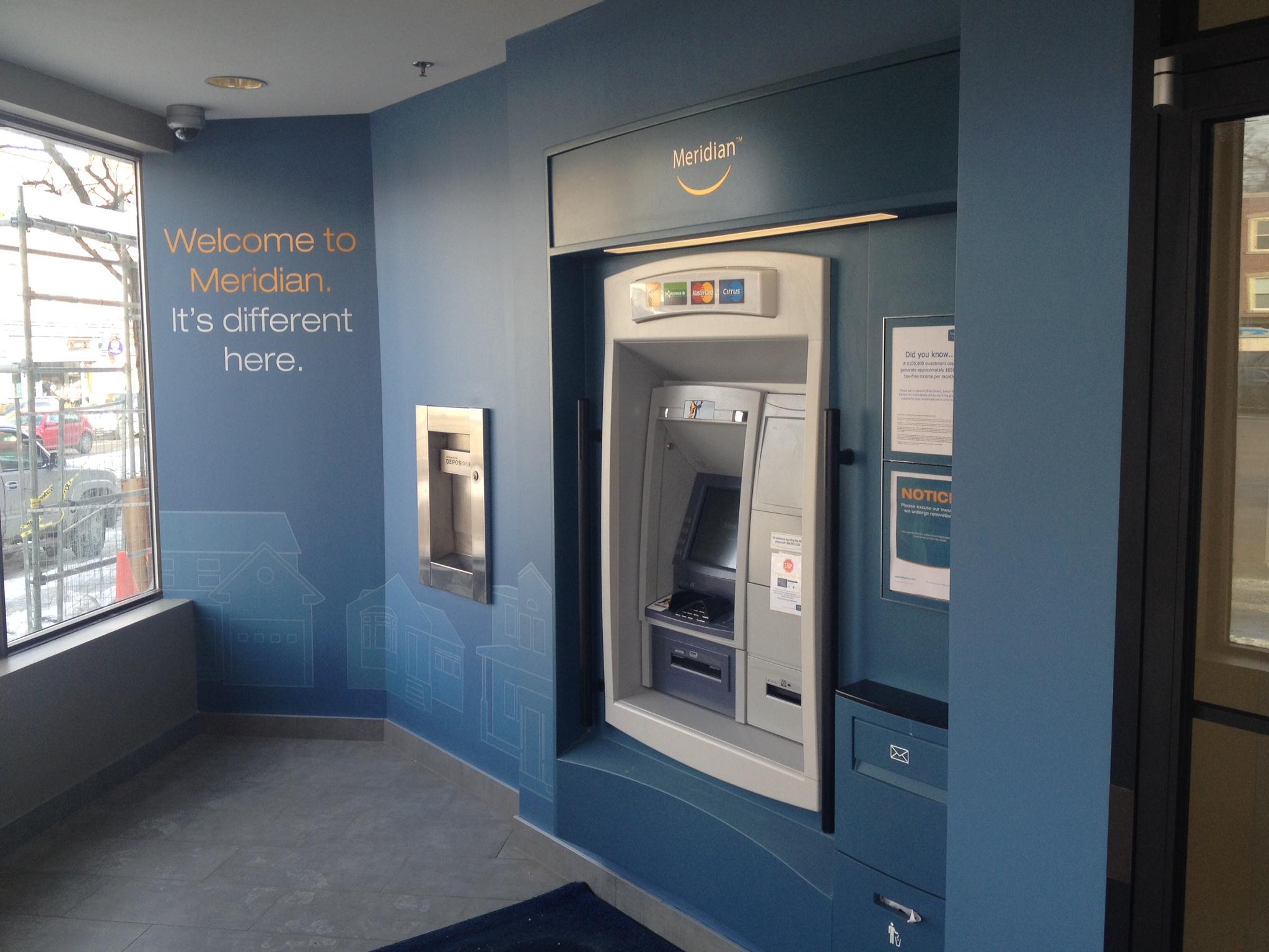 Vinyl-Cut lettering in ATM area