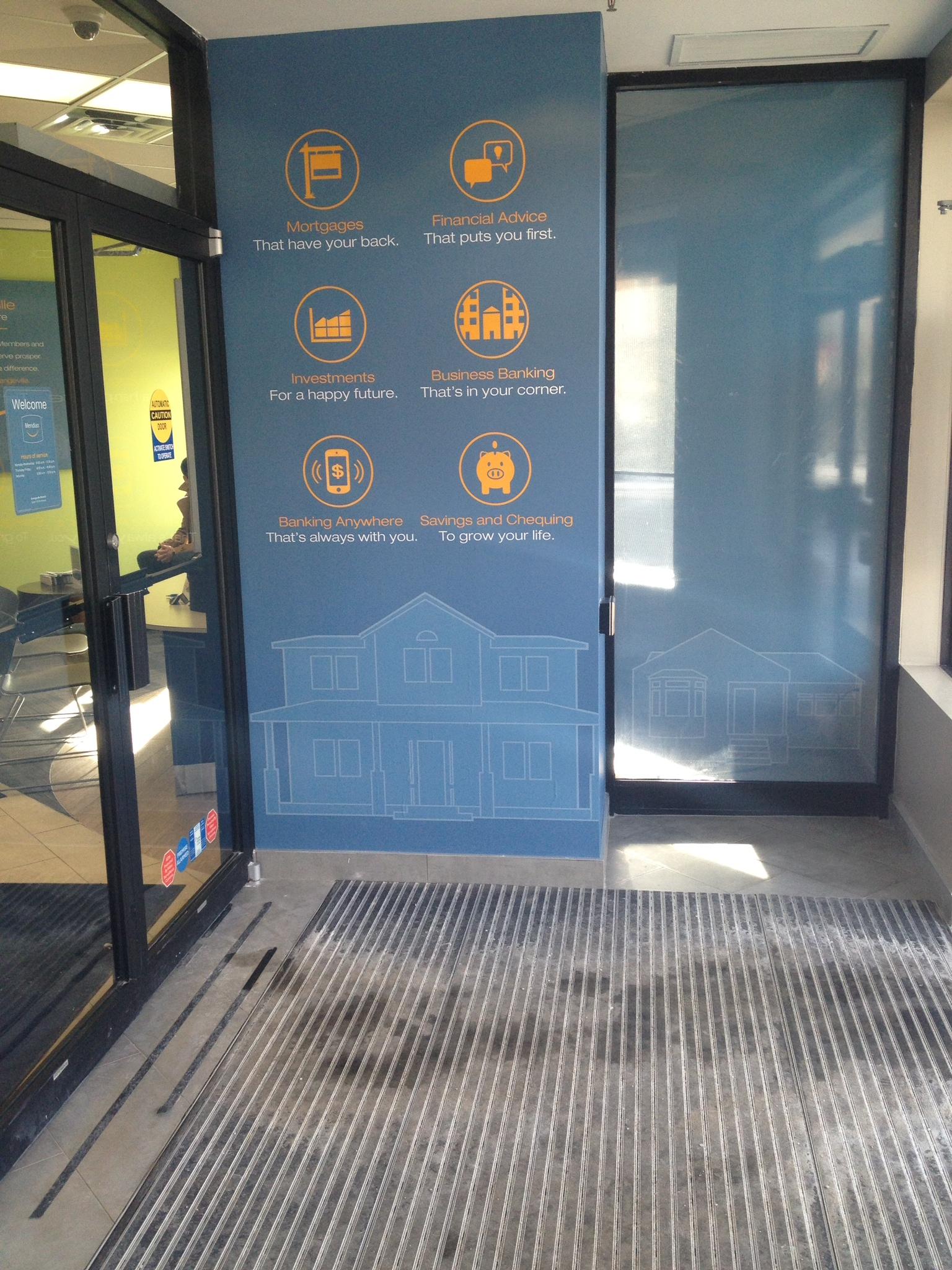 Vinyl-Cut graphics in ATM area
