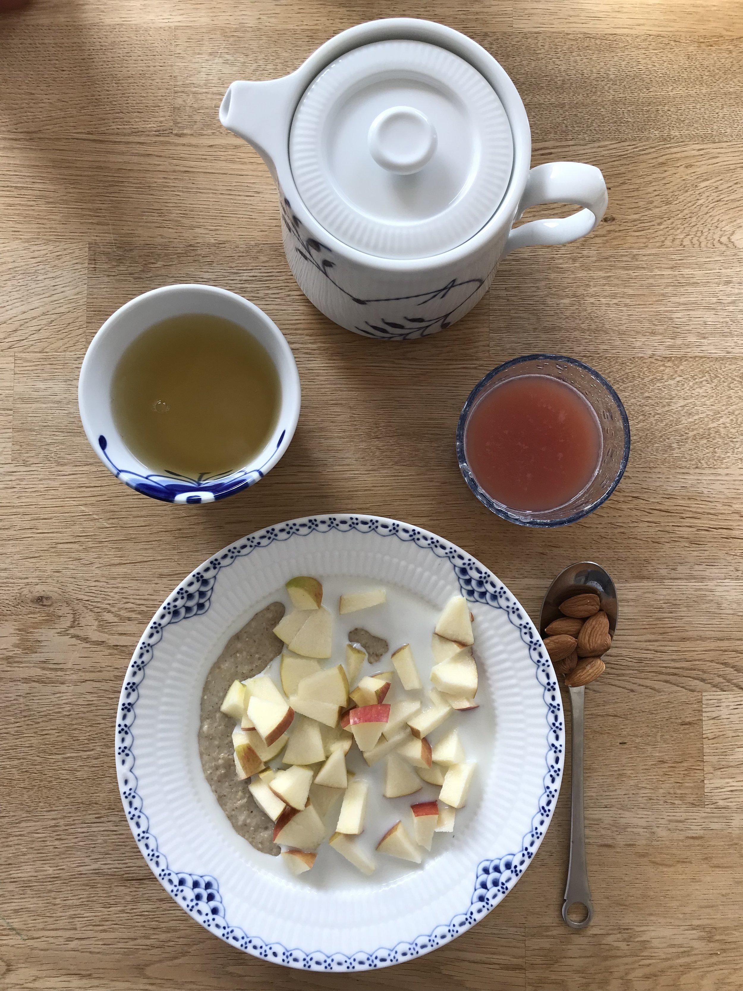 Nice breakfast every day. 📷 Rikke Hjuler