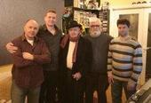 Recording session with Damien Dempsey, Ronnie Drew, Dave Fleming and Myles Drennan