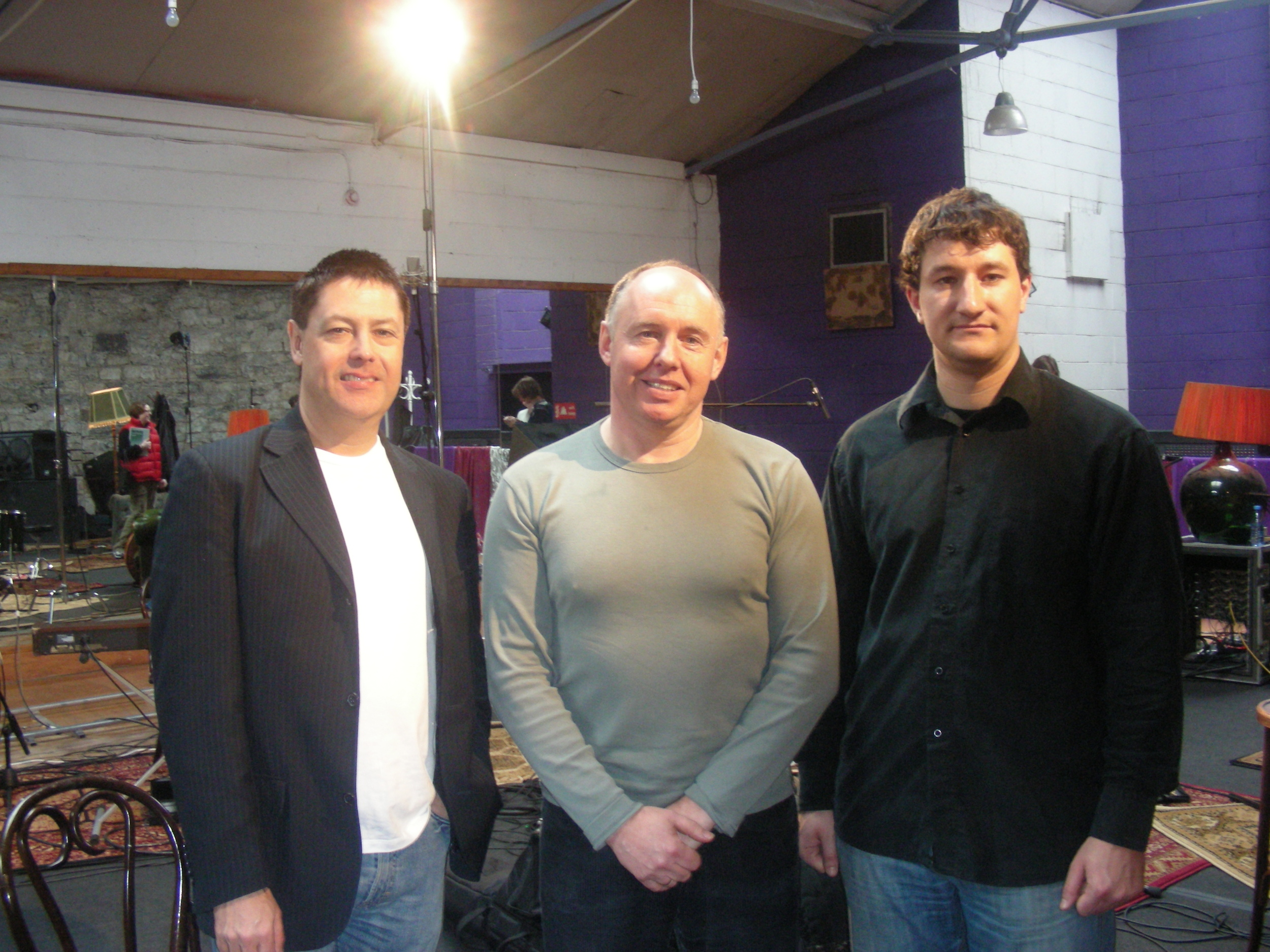 Guy Barker, H.B and Dave Redmond recording