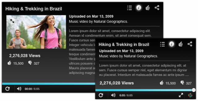 Smart resizing - changes content and features depending on size