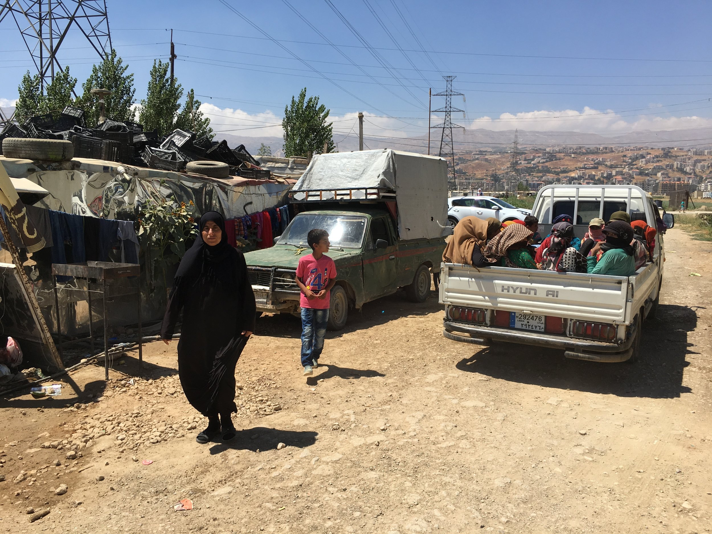 During my 8-month trip, I visited a ton of camps in West Bekaa -- which has the highest concentration of Syrians in Lebanon (more than 350,000 refugees).
