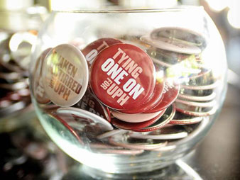 Event Buttons for the Universal Preservation Hall Annual Shaken and Stirred Fundraiser.