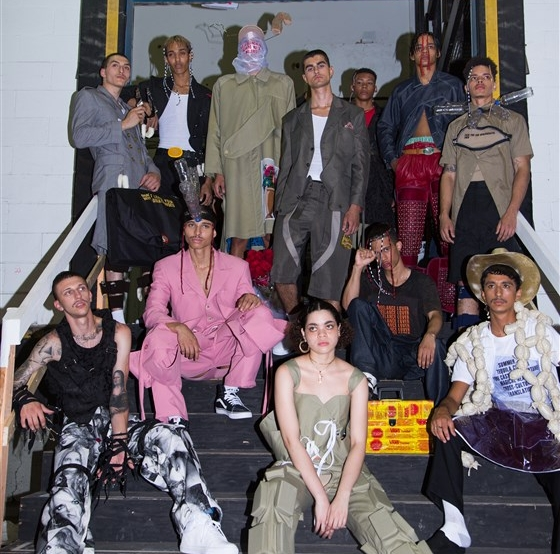 Mexican clothing designer Barbara Sanchez-Kane loudly tackled two divisive political issues in her first New York Fashion Week Men's under her own label.