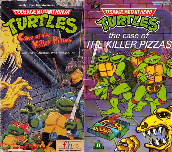 US/Canada vs UK cover variants for 'The Case of the Killer Pizzas'.