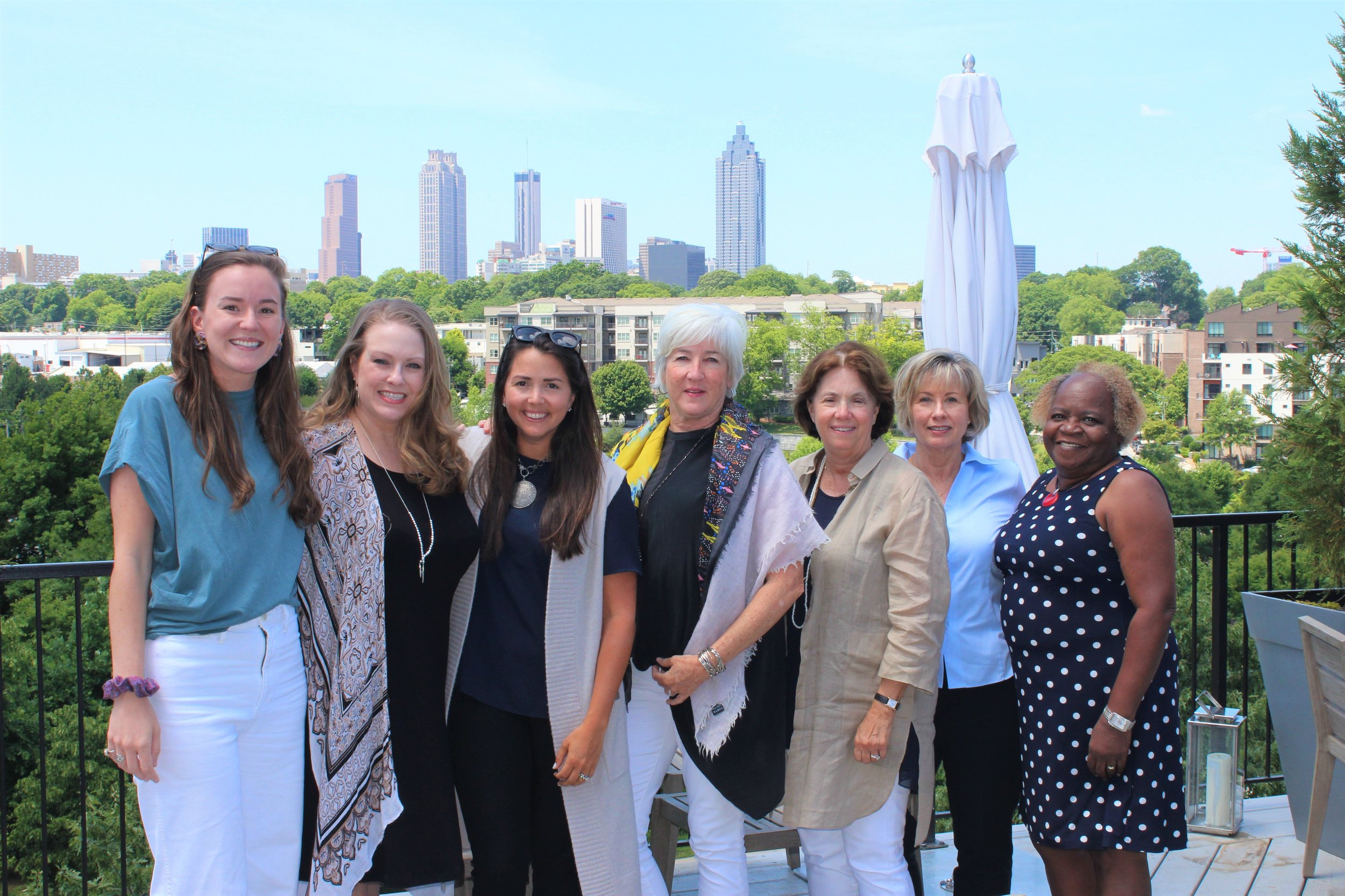 the monarch team from left:  Caitlin Cox, Kimber Biles, Whitney Wood, Patti McCarthy, Mary Lynne Thompson, Debbie Sachetti, Maxine Fears