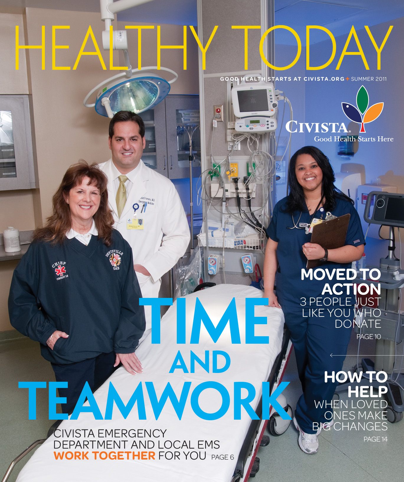 Healthy Today Magazine cover photograph
