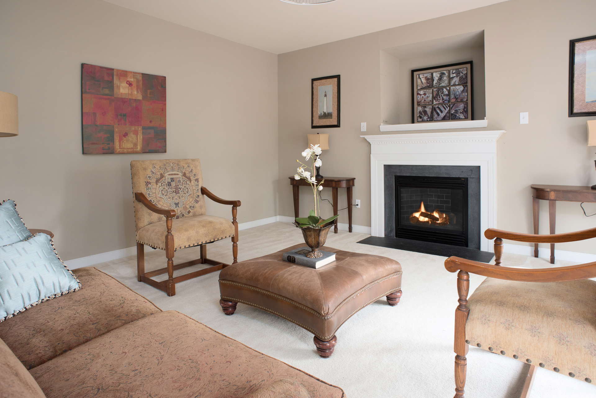 Living Room Real Estate Photography