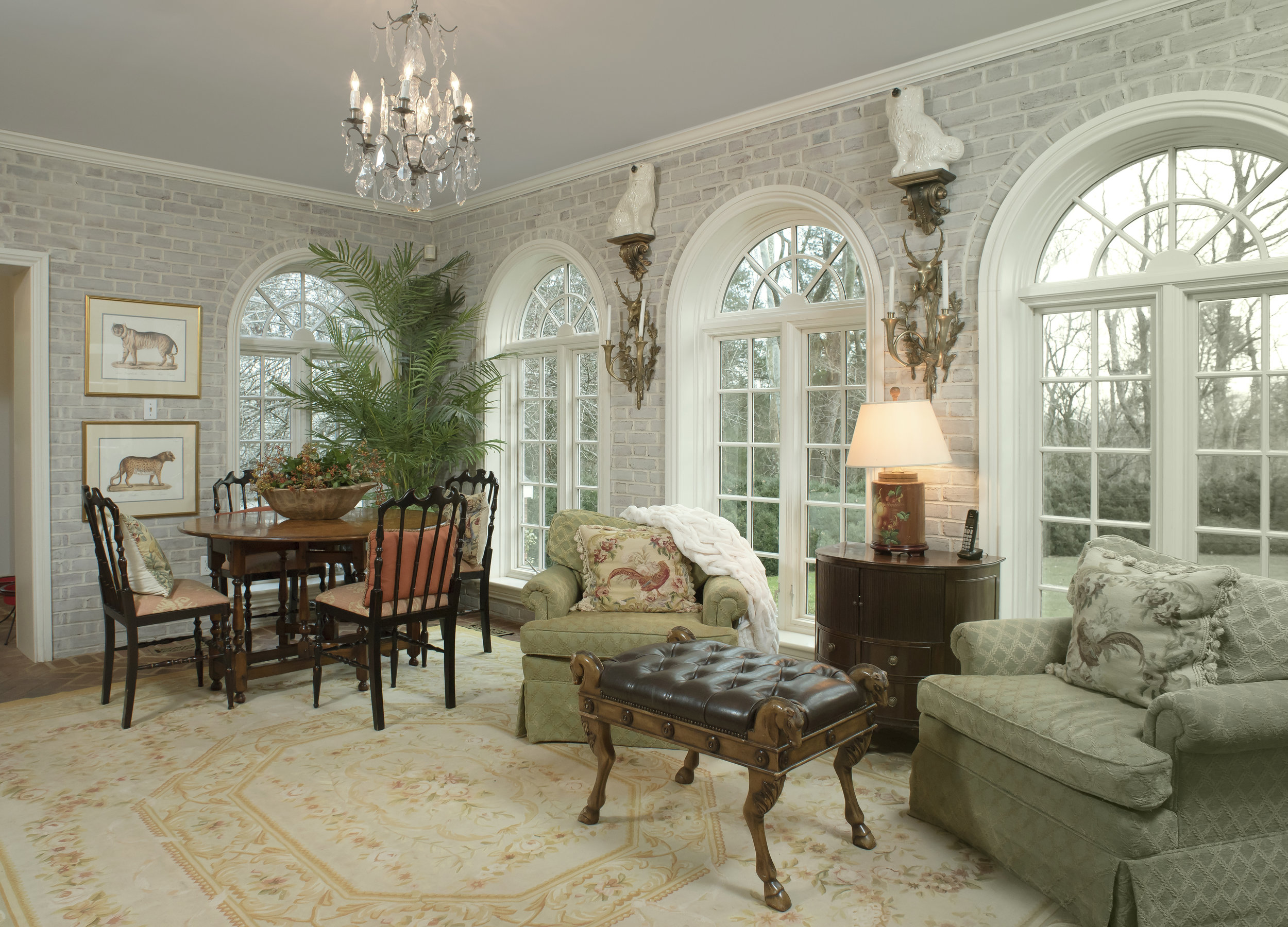 The sunroom that is classic in design.