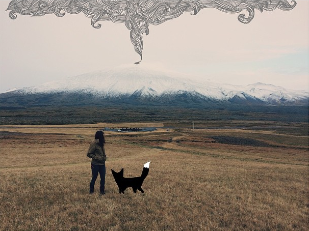 Fox and Aly watch a #volcano. #iceland