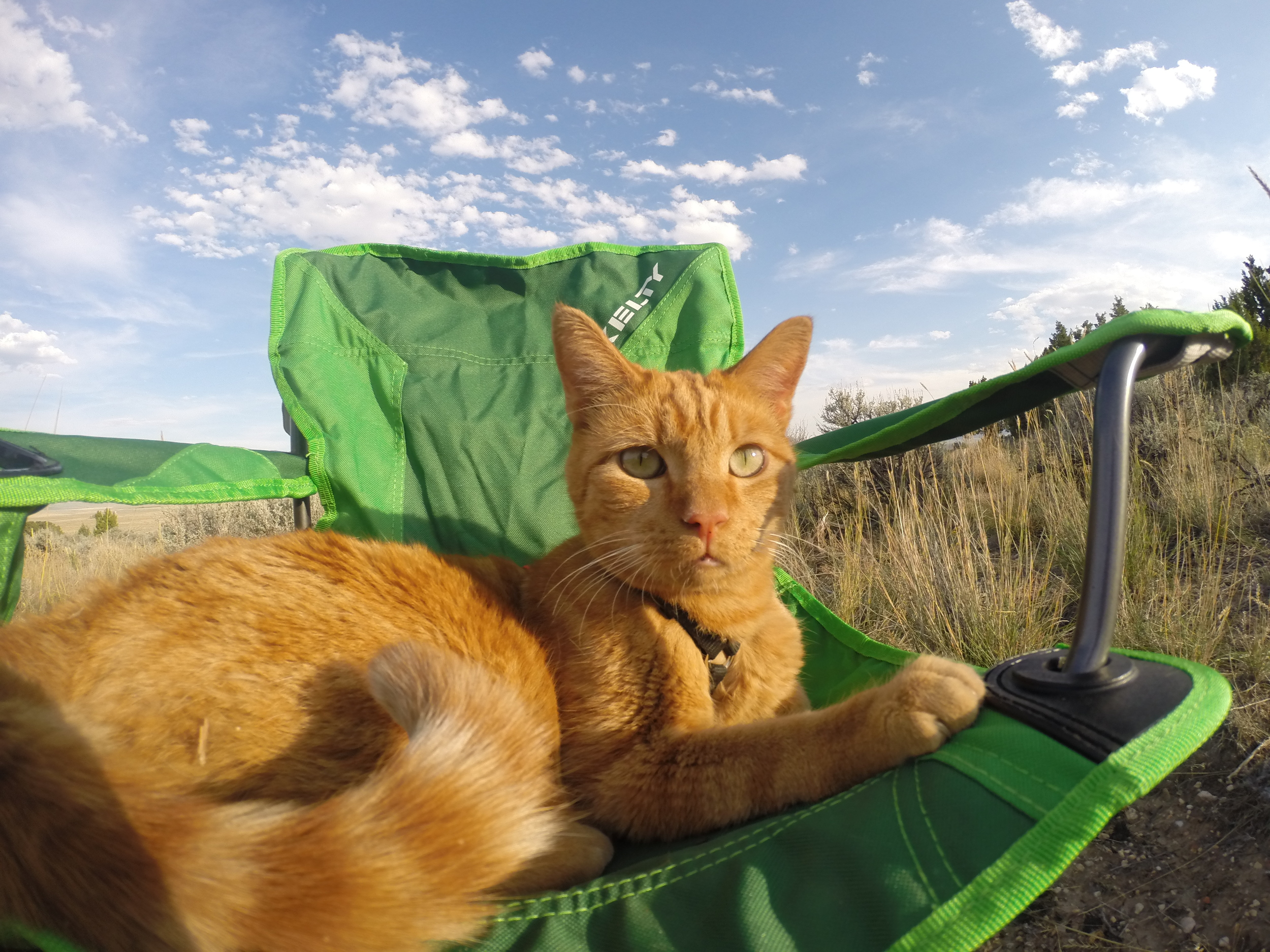 Kenneth in his camp chair just outside of City of Rocks, Idaho