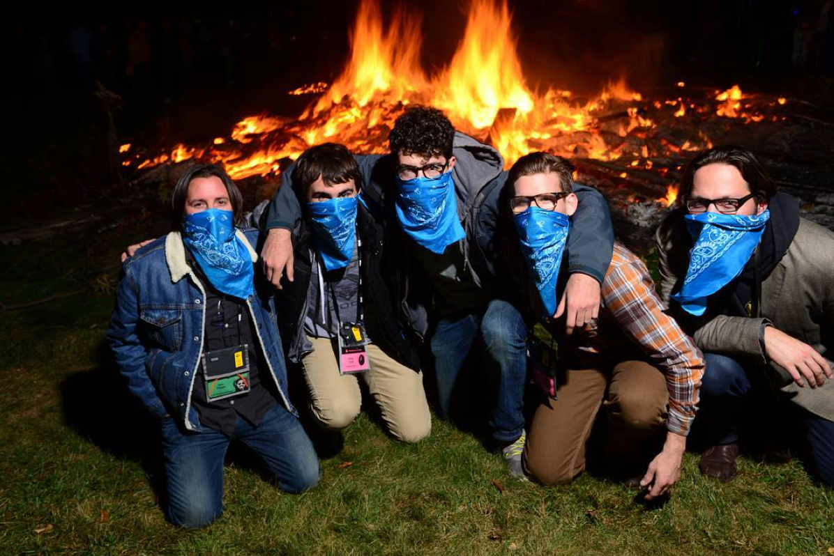 The Turkwah Boyz during the giant bonfire! (Eric, Kevin, Me, Stuart and Pete)