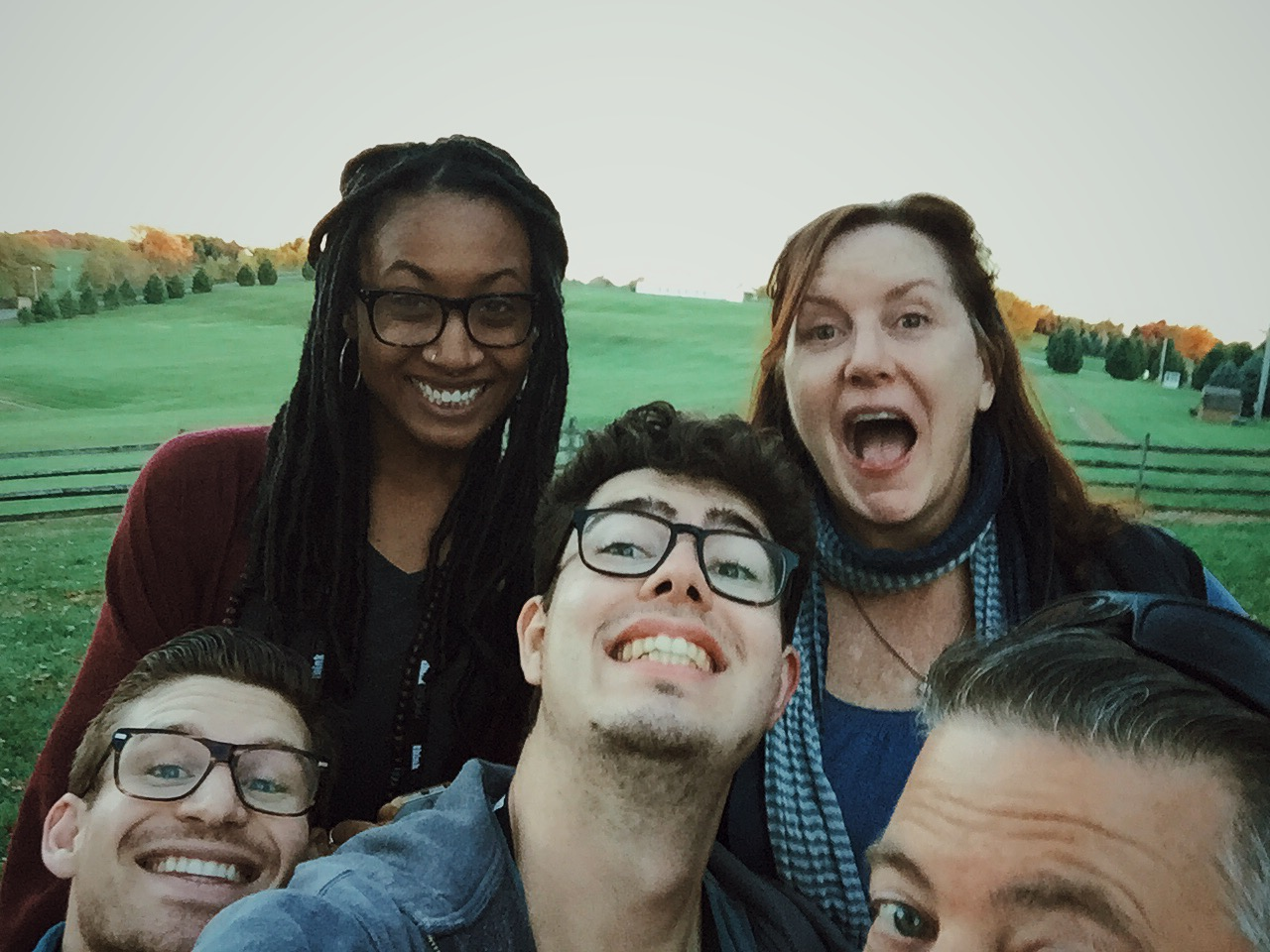 After a couple hours of photographing our assignments amazing chief Ruth Fremson picked us up and as we were driving we passed the memorial of the first Woodstock festival. It was amazing. We got out of the car and snapped an epic selfie. ( Stuart, Sophia, Me, Ruth, Jeremy)