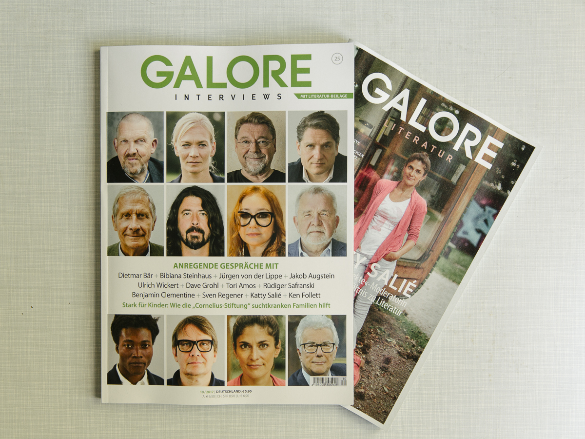 My Cover of Galore Literatur - Katty Salié in the minibib - a