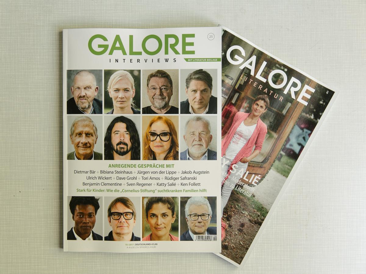 My Cover of Galore Literatur - Katty Salié in the minibib - a