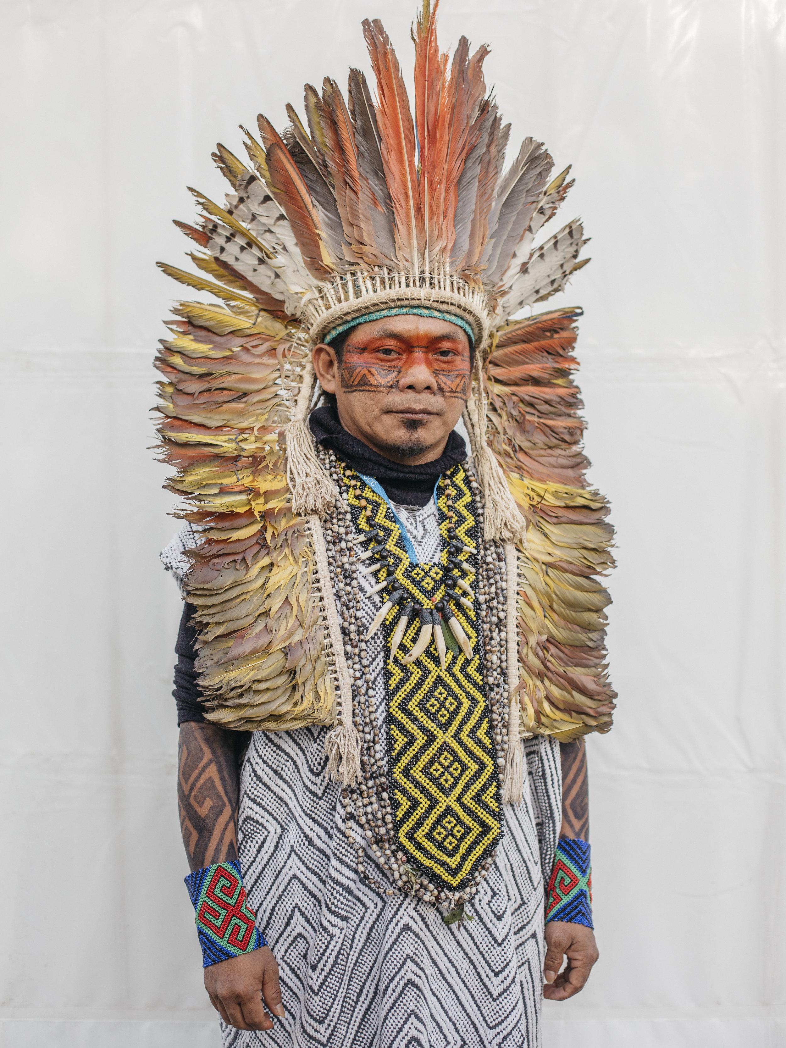 Ninawá Huni Kui, president of the Huni Kui people from Brazil.