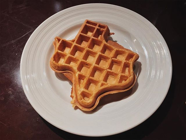 A waffle in the shape of Texas. There is no more Texas than this. 2017.