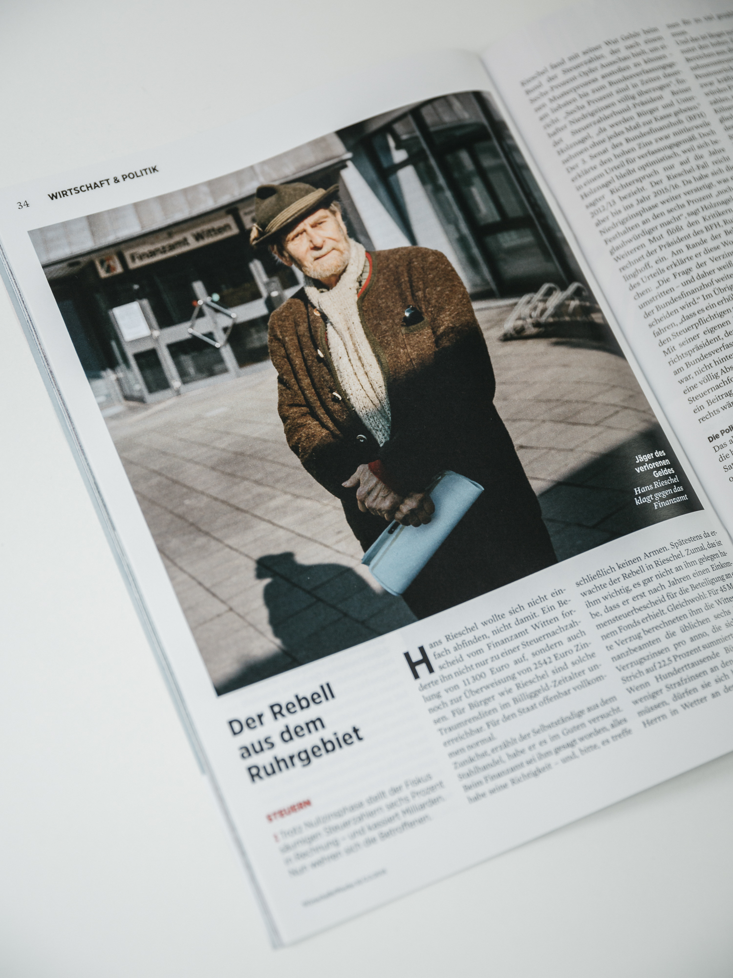 Tearsheet of the new Issue of Wirtschaftswoche p. 34