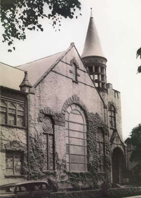 the reconstructed church, 1937
