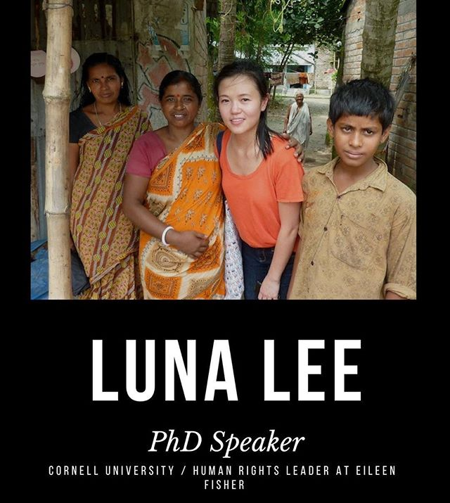 For today's fashion week event, we're hearing from Luna Lee! Luna has worked as a human rights leader at Eileen Fisher and we are so excited to hear her thoughts on the fashion industry. Hope to see you there at 7PM in MVR G71! 🖤🖤