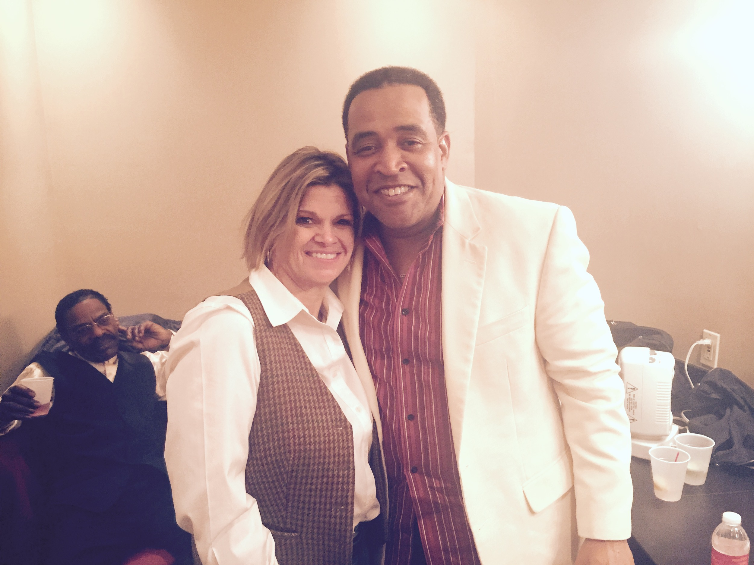 Eddie with Linda Broome, Executive Director of King Biscuit Blues Festival