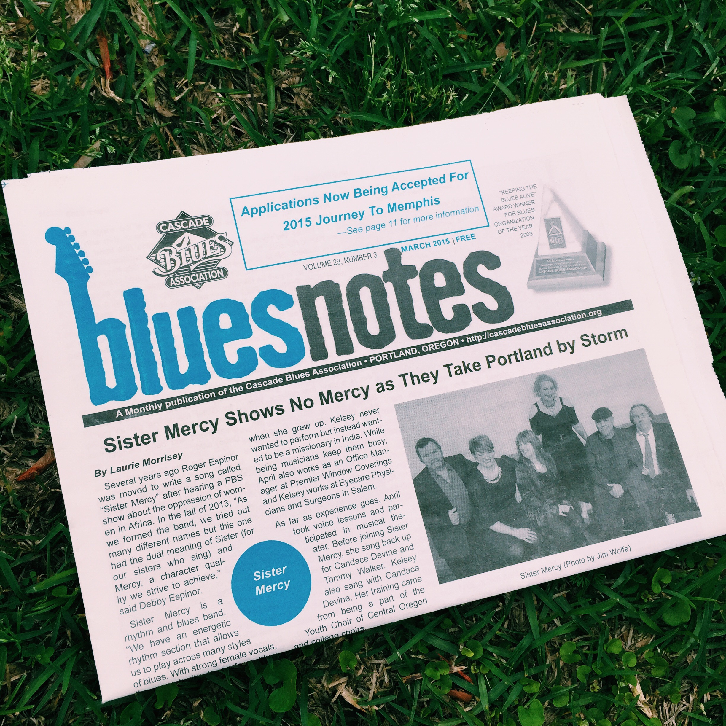 "Cascade Blues Association ""Blues Notes"" March 2015"