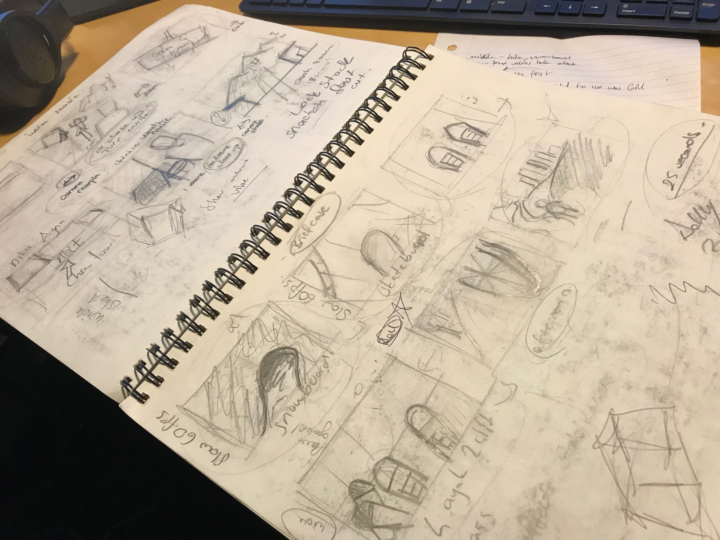 SketchBook Storyboarding Process