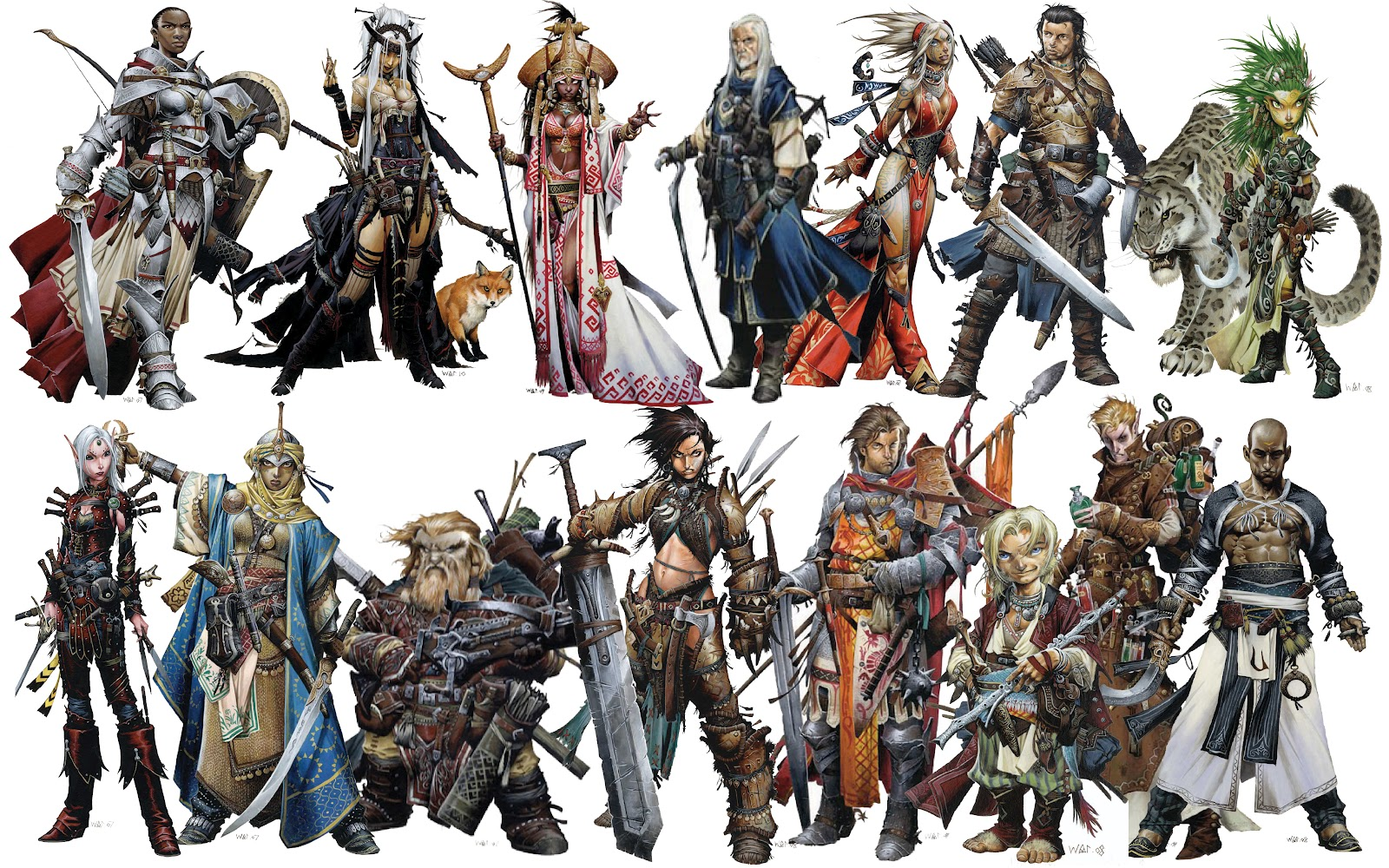 These are from Pathfinder, which is basically D&D except it's exactly the same as D&D for all intents and purposes.