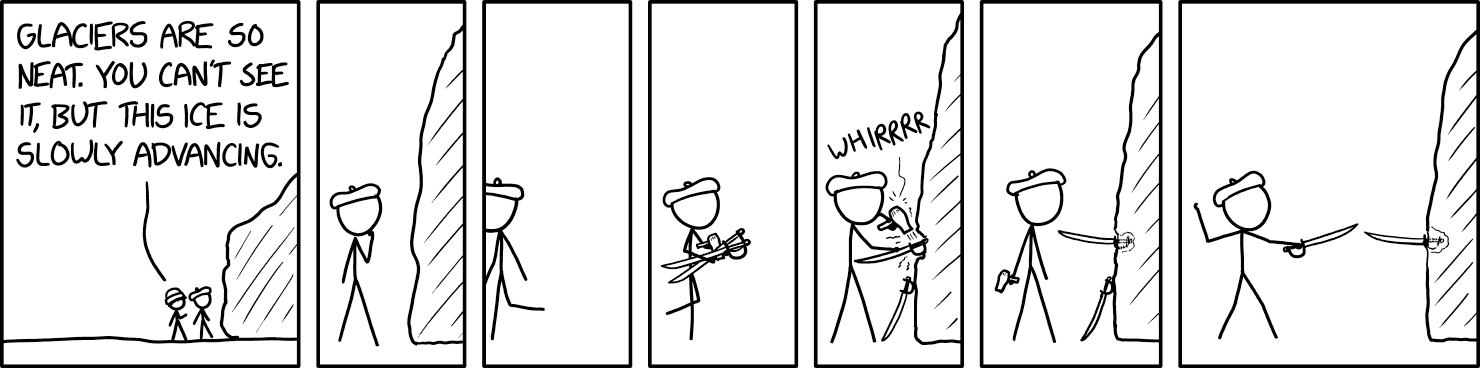 Stolen without permission from   https://imgs.xkcd.com/comics/glacier.png   for the express purpose of making fun of it.