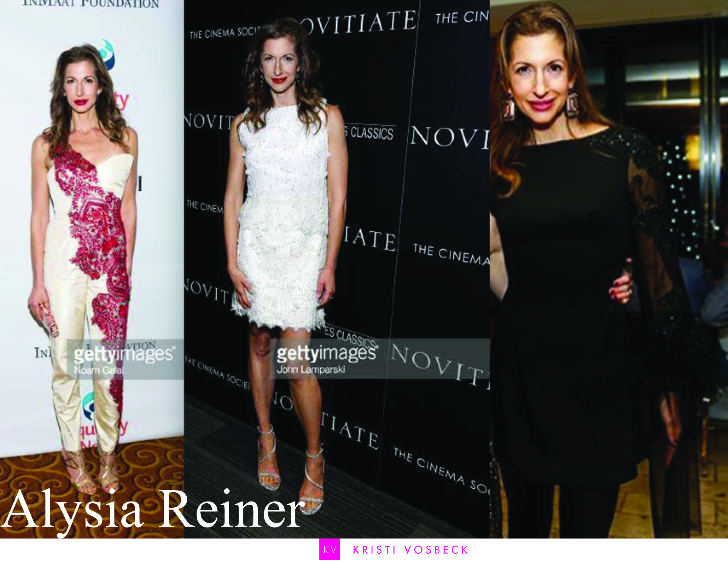 Alysia Reiner (known for her amazing role as Fig in  Orange is the New Black) stuns wearing KV - styled by Emily Bogner.