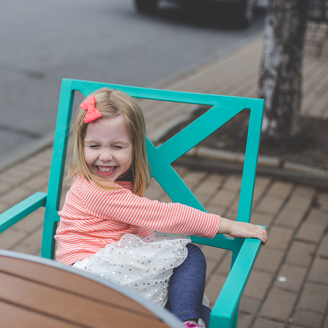 Found our favorite chair on a neighborhood walk!