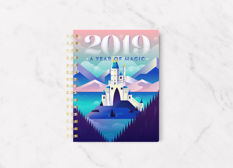 """Plan the Magic"" Calendar Planner, Notepad, Logo & Branding project for The Magical Miranda"